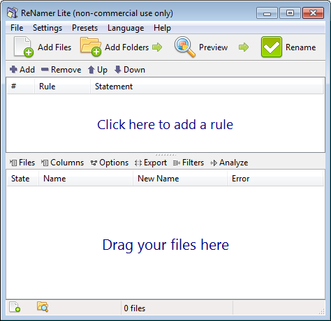 Screenshot of ReNamer